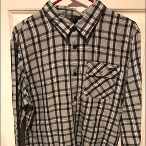 Oakley LS Large Men's Shirt Black Plaid